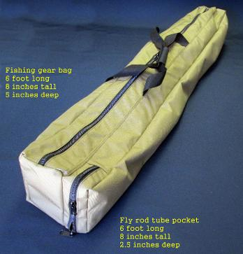Fly rod tube bag & Custom made bags Made to fit your needs Made in the USA